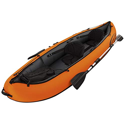 CVEUE OS Kayak Inflatable Boat Rubber Rowing, Double Canoe Two-Person Ship Propeller Air Pump Kayak Paddle Holder