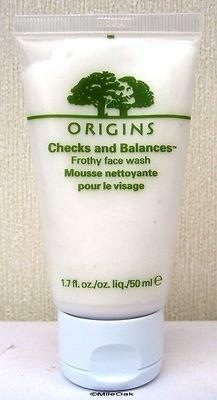 checks balances frothy face wash
