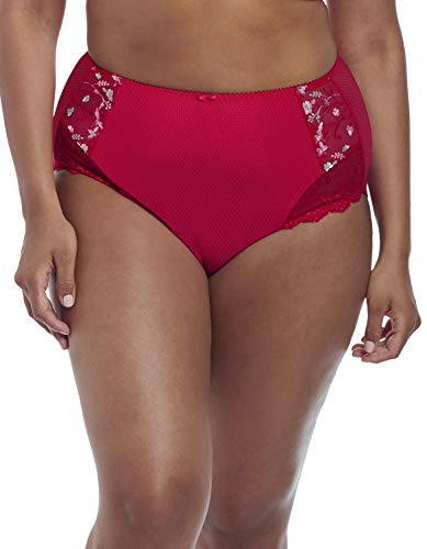 Elomi Women's Plus Size Charley Full Brief, red, XXX-Large ()