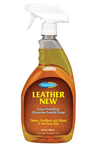 Farnam Leather New Easy-Polishing Glycerine Saddle Soap, 32 fl. oz. (Best Saddle Leather Conditioner)