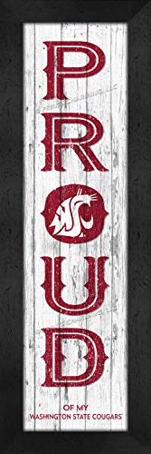 Prints Charming College Washington State Cougars COL Proud Color Framed Posters 6x22 Inches