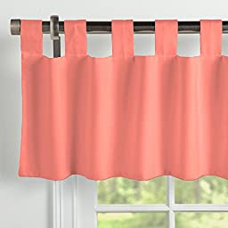Carousel Designs Solid Coral Window Valance Tab-Top
