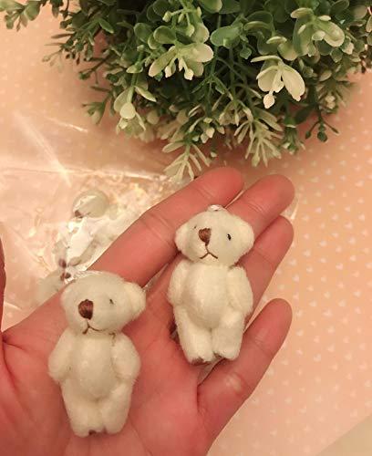 10pc Craft Mini Plush Teddy Bear Doll 4cm (H139-White) US Seller Ship Fast by www.embellishmentworld.com