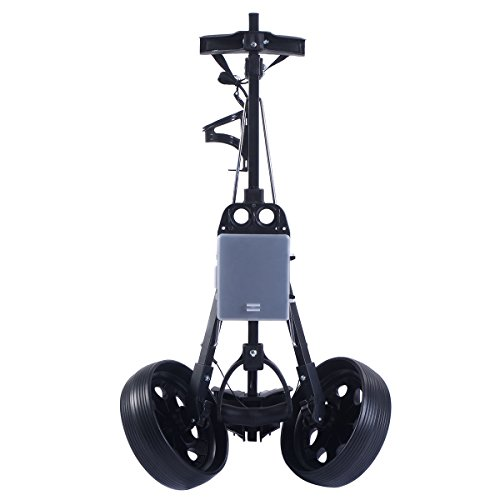 COLIBROX--New Foldable 2 Wheel Push Pull Golf Cart /Cup Holder Trolley Swivel Steel Light. pull carts walmart. costway golf cart. best golf pull carts for sale. golf pull carts amazon. by COLIBROX (Image #4)