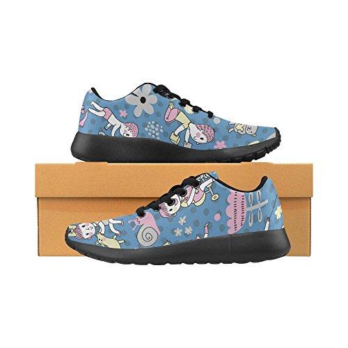 Interestprint Femmes Chaussures De Course Jogging Léger Sport Marche Athlétisme Baskets Mignon Fleur