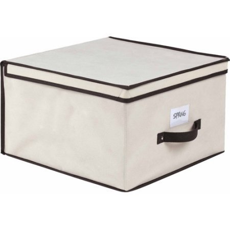 Simplify Storage Box | Dimensions: 15.75'L x 15.75'W x 9.8'H, Jumbo (Cream)