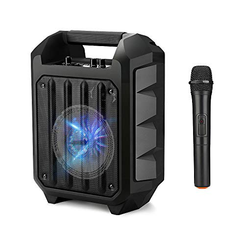 Wireless Portable PA Speaker System, ARCHEER 150W Peak Power Karaoke System Bluetooth Speaker with Microphone and LED Light,Perfect for Wedding, Party, Karaoke, other Outdoor and Indoor Activities.