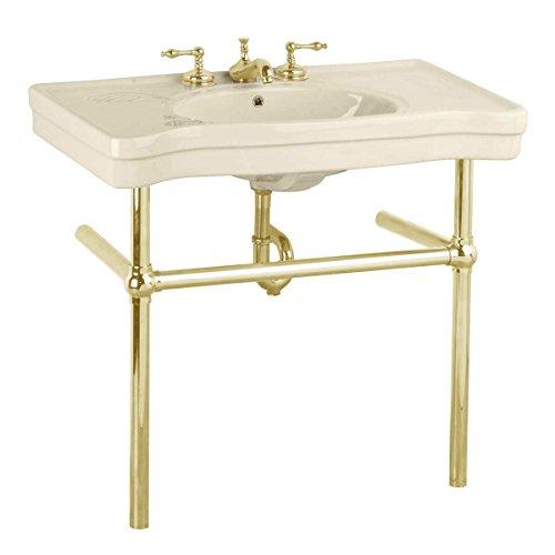 Bone Console Sink Bone China Belle Epoque With Brass Bistro Legs ()