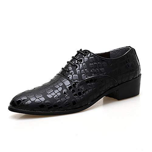La Grueso Moda De Formales Zapatos Altura Con Oxford Conducción Masculina Relieve Casual En Aumento Simple Negro Textura Gby Calzado 8q7dP7