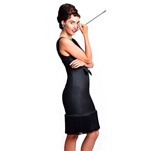 Little Black Dress Costumes Ideas (Complete Audrey Hepburn Breakfast at Tiffanys Black Tassel Dress Costume Set (Small))