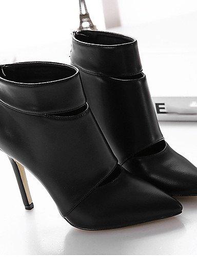 5 XZZ black 5 Tacones Semicuero 5 uk6 eu36 Tacón cn40 Zapatos uk4 us6 Vestido Negro Botas de us8 cn36 eu39 black black Stiletto eu39 Puntiagudos uk6 Beige 5 mujer us8 cn40 rSHr1zq