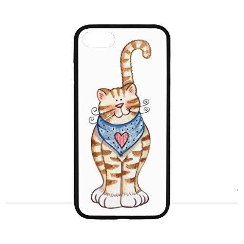 iPhone 7 phone case KITTY CAT CLIP ART Cover Whole Covered Slim-Fit Ultra-Thin Anti-Scratch Shock Proof Dust Proof Anti-Finger Print Case iPhone 7 (4.7 inch) - KITTY CAT CLIP ART Cover