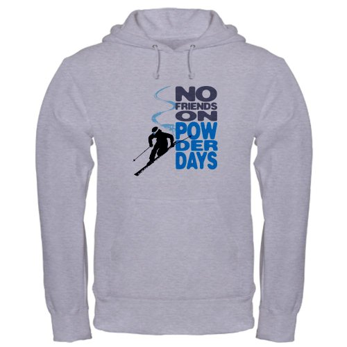 CafePress - No Friends On Powder Days Hooded Sweatshirt - Pullover Hoodie, Classic & Comfortable Hooded Sweatshirt
