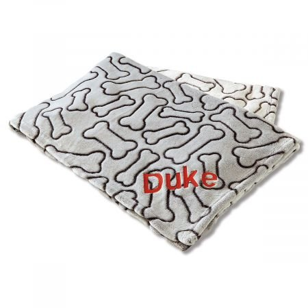 Lillian Vernon Personalized Pet Blanket - 36'' x 48'' Embroidered Dog Blanket, Machine Wash