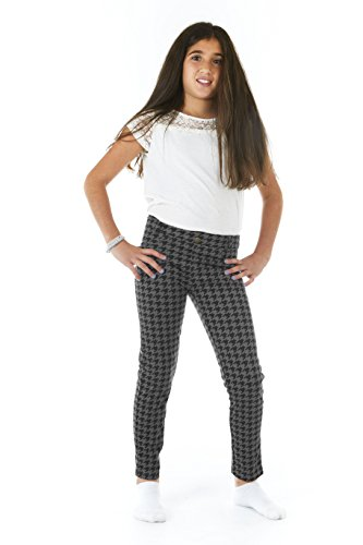 Crush Girls Ponte Houndstooth Print Fashion Legging Pants Size 10-12 (Houndstooth Outfit)
