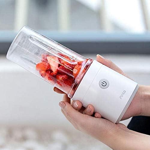HANYF Exprimidor De Frutas Portátil, Exprimidor Portátil De 350 Ml, Fruta Exprimidor Eléctrico/Exprimidor/USB Recargable Licuadora Batido, Licuadora Mini Taza De Jugo