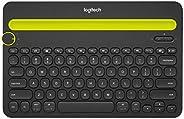 Teclado sem fio Logitech K480 com Suporte Integrado para Smartphone e Tablet, Conexão Bluetooth para até 3 dis