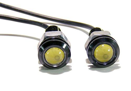 LED Turn Signal Indicators Screw Bolts Fits Jeep TJ CJ JK YJ Wrangler (Amber) (Pack of 2) (Led Signal Lights)