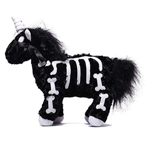 Littleforbig Uniskelly Skeleton Unicorn Stuffed Animal Plush Shoulder Bag Purse Black (Cotton Handbag Shoulder Bag)