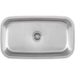 30 Inch Stainless Steel Undermount Single Bowl Kitchen Sink - 18 Gauge