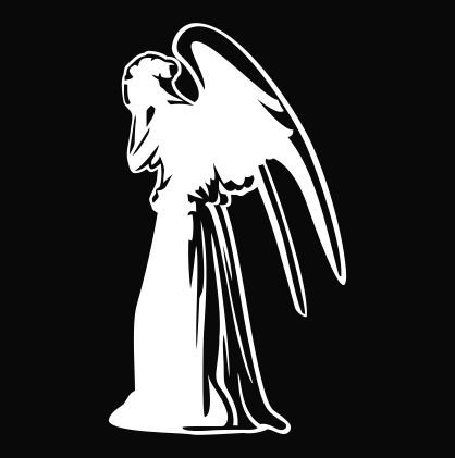 WEEPING ANGEL SILHOUETTE DR WHO TV SERIES STICKERS SYMBOL 5.5