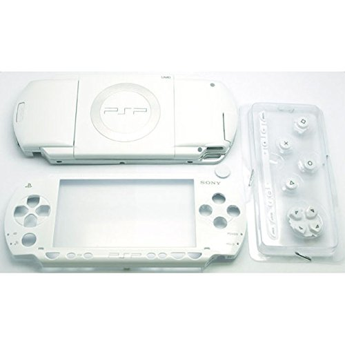 Gametown New Replacement Sony PSP 1000 Full Housing Shell Cover with Button Set -White.