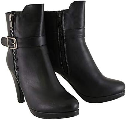 Black, Size 6 Milwaukee Performance Womens Side Zipper Entry High Heel Boots