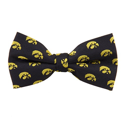 Iowa Hawkeyes Repeated Logo Bow Tie - NCAA College Team