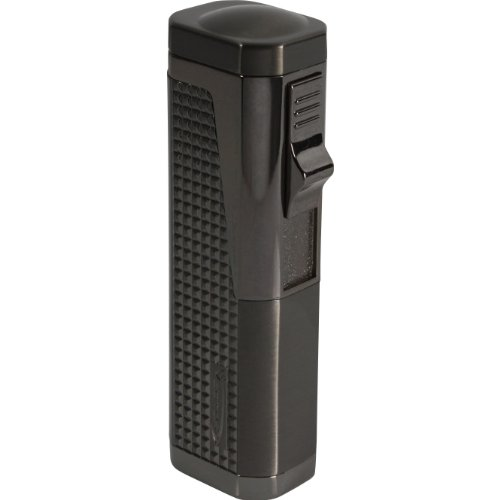 Cigarette Lighter Vector (Vector Urbano Triple Torch Lighter Gunmetal Satin)