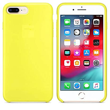super popular c3bff 1bc45 Mcart's Silicone Soft Back Cover Case For Apple iPhone 7 Plus And iPhone 8  Plus (Light Yellow)