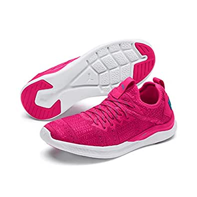 PUMA Women's Ignite Flash IRIDES TZ WNS Outdoor Multisport Training Shoes, Fuchsia Purple-Caribbean Sea, 6 US