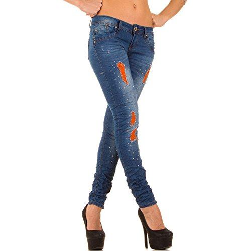 Denim Store Elasticizzato Pantaloni Jeans Colorati Blanco Donna Inserti Stretti Con 4YqtdtwA