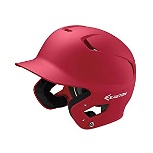EASTON Z5 2.0 Batting Helmet | Baseball Softball | Senior | Matte Red | 2020 | Dual-Density Impact Absorption Foam | High Impact Resistant ABS Shell | Moisture Wicking BioDRI Liner | Removable E