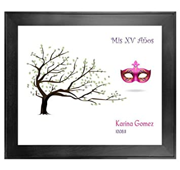 """Quinceanera Guest Book Tree # 4 Mask 20""""x24"""" ..."""