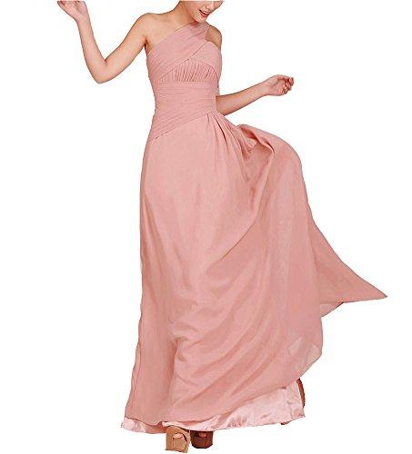 Snowskite Womens One Shoulder Long Chiffon Bridesmaid Evening Dress size 24 Lilac