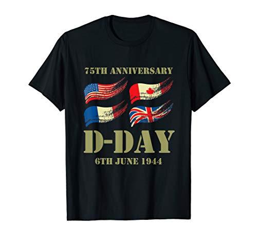 D-Day 75th Anniversary Shirt   WWII Memorial T-Shirt