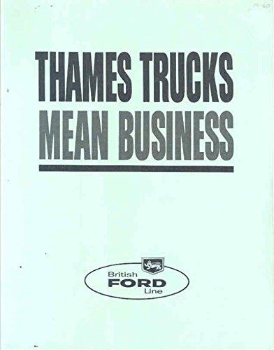 (1960 Ford Thames Van Station Wagon Pickup Brochure)