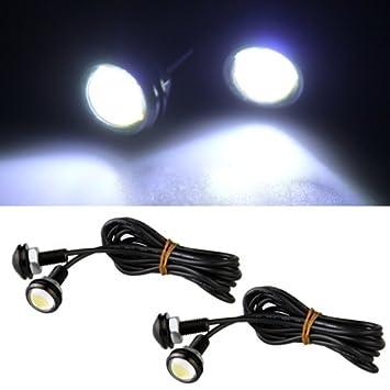 4X Bombilla Lámpara Trasera Ojo Águila Luz Blanco 3W 12V LED Coche: Amazon.es: Coche y moto