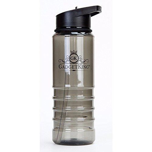 gadgetking TM Wasser Flasche Flip Stroh, Fitness Gym Wandern Radfahren Laufen Tritan Sport-Trinkflasche Wasser Flasche Radfahren Wandern Camping BPA-freier Kunststoff Schraube Top Hand ein Fitnesscent