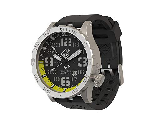 Hazard 4 Heavy Water Diver (TM) BlackTie Yellow GMT: Reloj de buceo de titanio y tritio - B