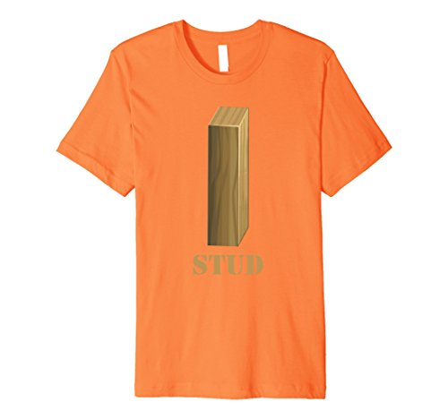 Mens Men's Hot Guy Shirt Funny Construction Halloween Costume Tee Small Orange