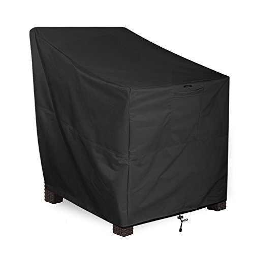 KHOMO GEAR - PANTHER Series - Patio Chair Cover - Heavy Duty Premium Outdoor Furniture Cover - Black