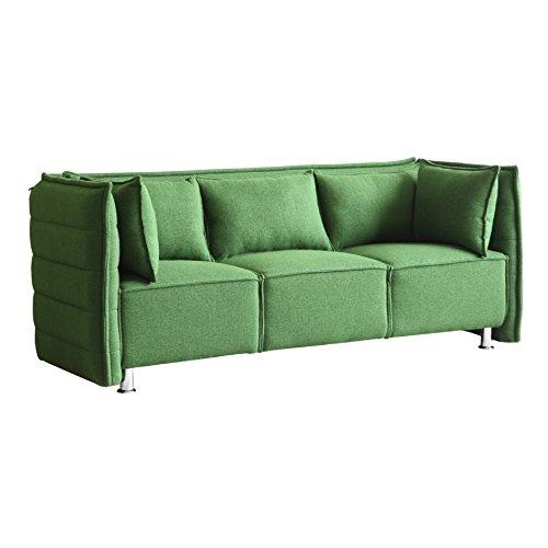Modern Contemporary Sofa, Green, Fabric