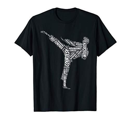 Taekwondo Fighter 5 Tenets Of TKD Martial Arts T-Shirt