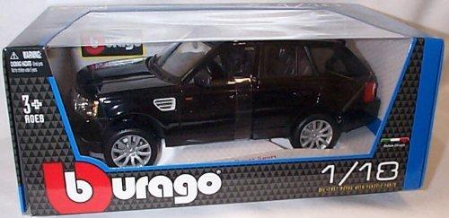 Burago nero range rover sport car 1.18 scale diecast model by burago