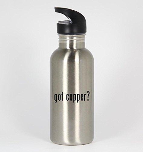 7b920e98bfd4 got cupper? - 20oz Silver Water Bottle