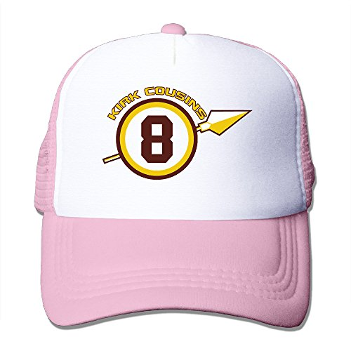 LINNA Washington #8 Football Player Cotton Hats Cross-country Cap For Outdoor Sports Pink