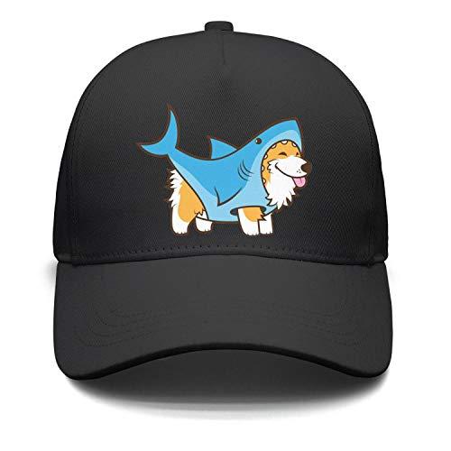 Unisex Casual Baseball Cap Corgi Dog in a Shark Suit Cool AdjustableStrapback Hat ()