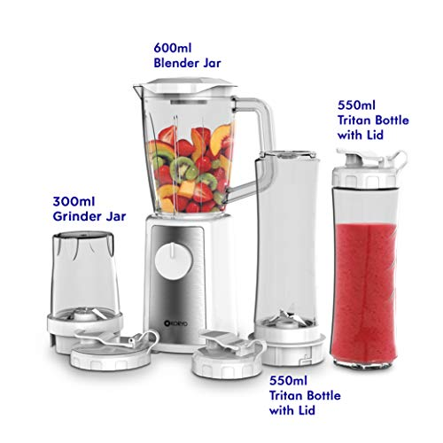 Koryo Personal Blender Kpb442bt With 4 Jars And Stainless