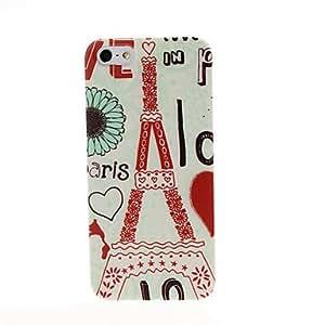 ZXSPACE Cartoon Eiffel Tower Pattern Plastic Hard Case for iPhone 5/5S